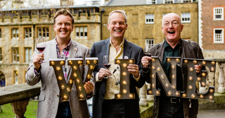 Oz, Tim, Olly......and us! Carmelita's back on the Three Wine Men Tour 2016